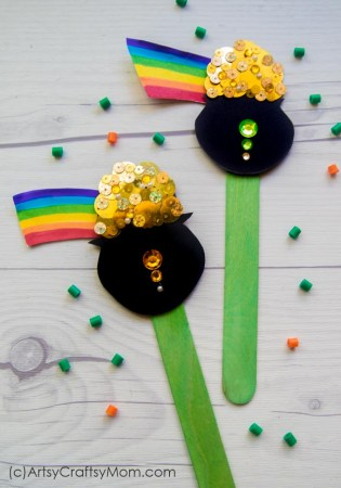 Pot of Gold Popsicle Stick Craft | St Patrick's Day Special