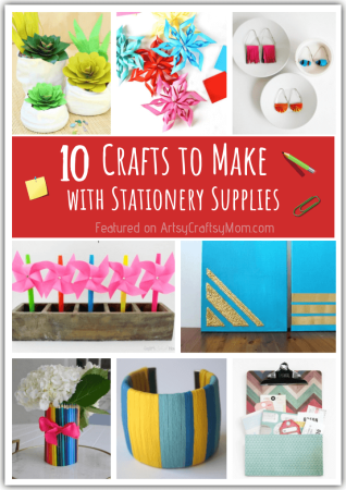 10 Cute Crafts to Make with Stationery Supplies