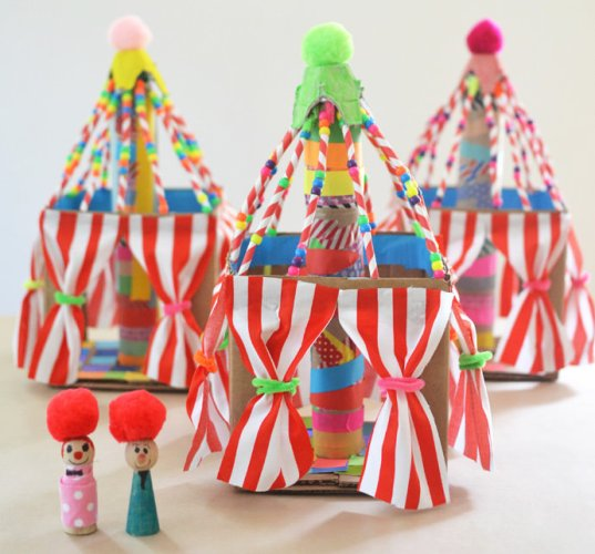 This World Circus Day, let's rediscover our love for the circus with some Circus crafts and activities for kids. Make your own tent, performers and animals!