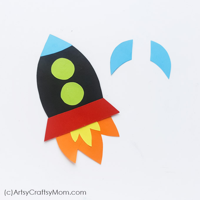 image regarding Rocket Template Printable titled Paper Rocket Craft for Young children + Cost-free Printable Template