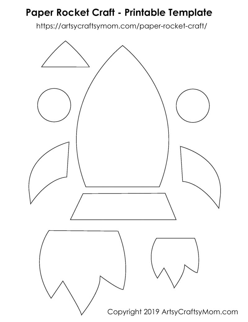 photo relating to Rocket Printable called Paper Rocket Craft for Children + Cost-free Printable Template