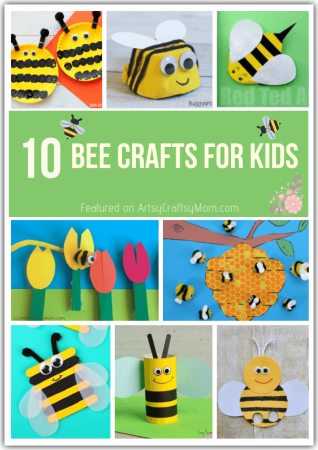 10 Bright and Bubbly Bee Crafts for Kids