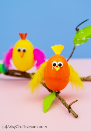 Recycled Plastic Egg Bird Craft