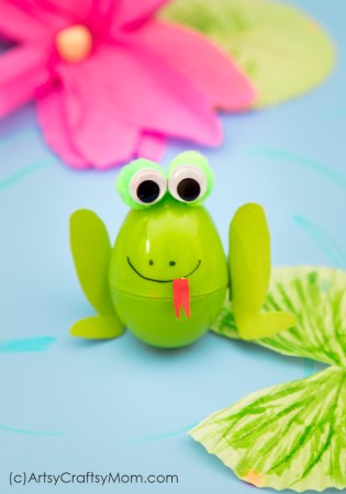 Recycled Plastic Egg Frog Craft