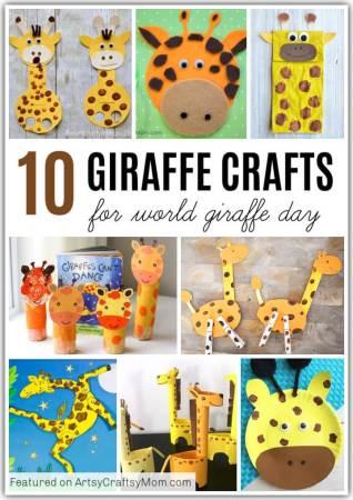 10 Groovy Giraffe Crafts for Kids   World Giraffe Day Crafts