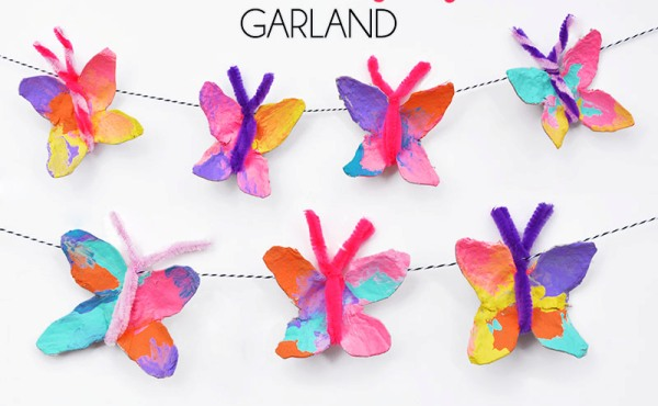Recycle your emptyegg cartons to make egg carton Butterfly - ArtsyCraftsyMom