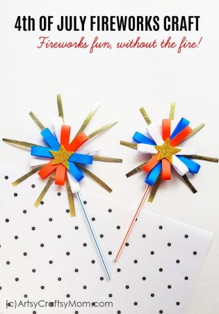 4th of July Fireworks Craft