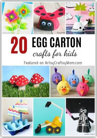 20 Recycled Egg Carton Crafts