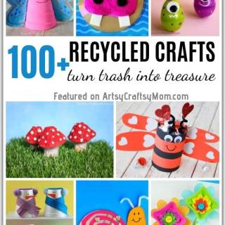Why add to the landfills when you can turn trash into treasure? Check out our mega list of 100+ recycled crafts for kids to make, play and gift!