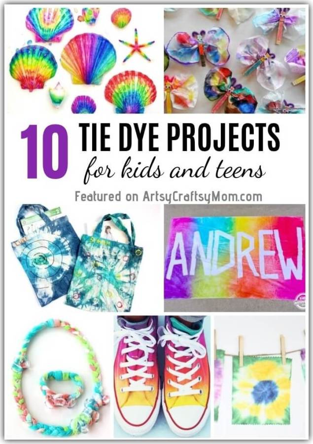 10 Tie Dye Projects For Kids And Teens To Make This Summer