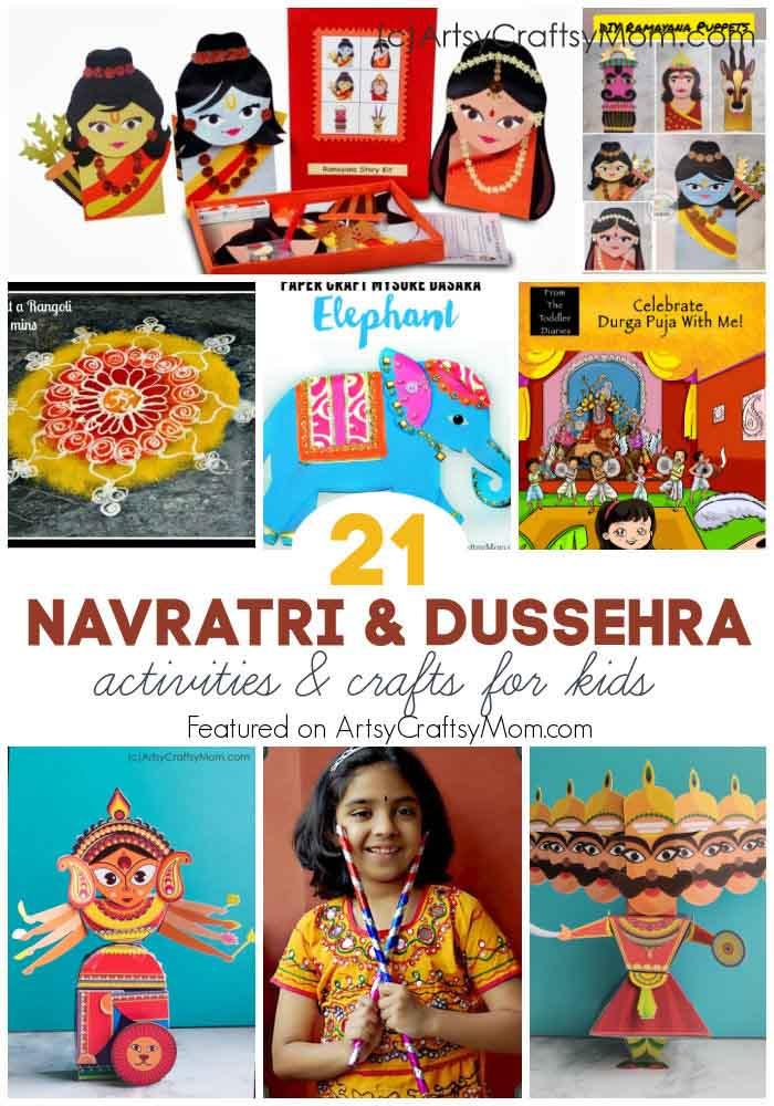 21 Navratri Dussehra Activities Crafts For Kids Artsy Craftsy Mom
