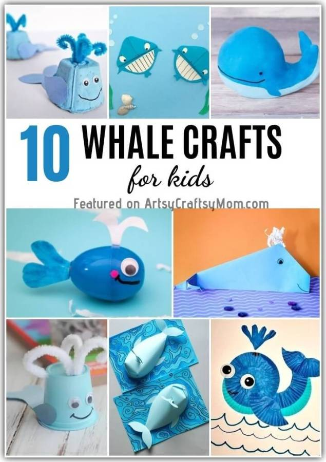 With World Whale Day coming up on 15th February, it's the perfect time to learn more about whales with these 10 Wonderful Whale Crafts for Kids!!