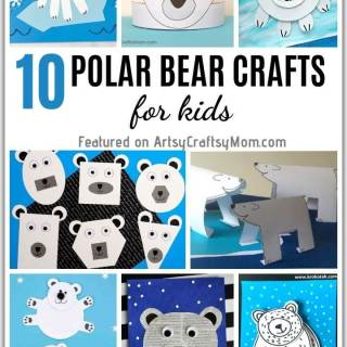 Aren't polar bears cute? These playful polar bear crafts for kids are perfect to learn about these adorable animals, as well as about Arctic life.