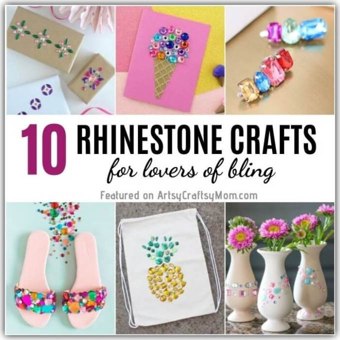 If you love some bling in your life, you've come to the right place! These Rhinestone Crafts are perfect for anyone who likes things glam and shiny!