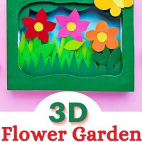3D Flower Garden Shadow Box Craft