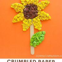 Crumpled Paper Sunflower Craft