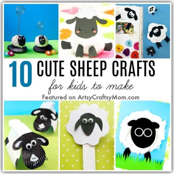 Sheep are cute little animals, aren't they? Whether it's spring, Easter or Bakrid, these cute and Creative Sheep Crafts for Kids are just what you need!