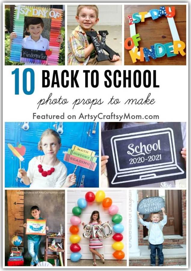 Back to School is a special milestone - even if learning is online! Celebrate this occasion with these fun DIY Back to School Photo Props!