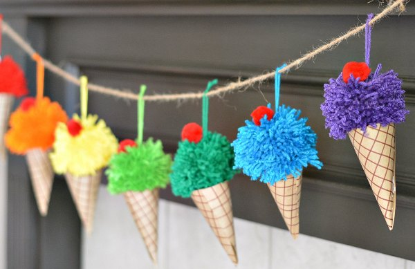 These Cool and Creative Ice Cream Crafts for Kids will have you craving an ice cream cone in no time, no matter what the weather is outside!