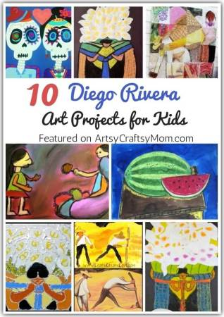 Learn about Mexican art and culture with these Delightful Diego Rivera Art Projects for Kids, perfect to go with Frida Kahlo art lessons!