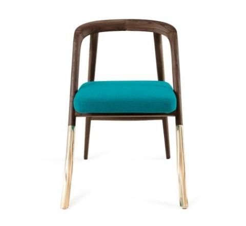Alma Brass Chair from Organic Modernism