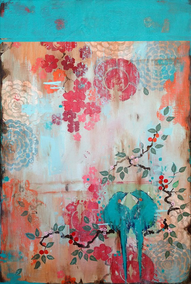... Kathe Fraga | artsy forager #art #artists #mixedmedia #paintings  #floral ...