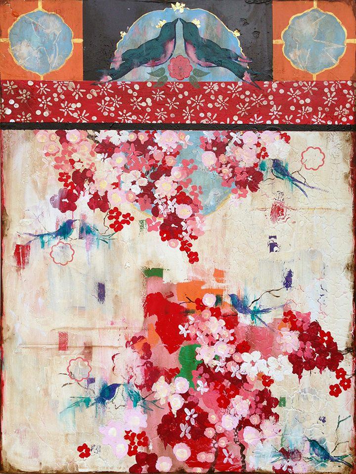 ... Kathe Fraga   artsy forager #art #artists #mixedmedia #paintings #floral
