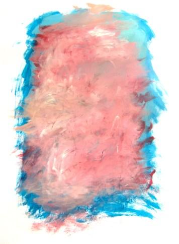 Eureka Cherry Blossoms, acrylic on paper, 18x24