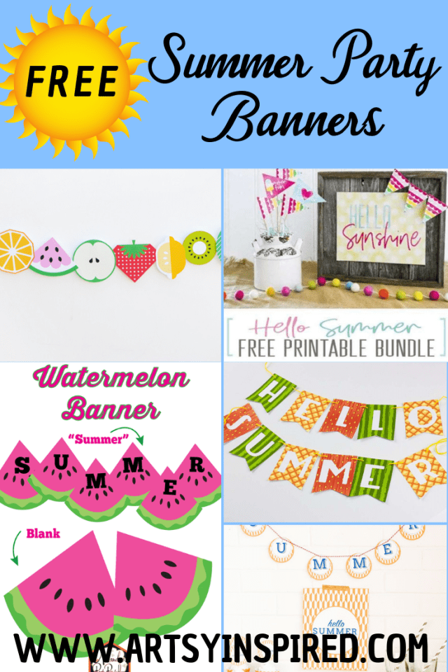 Free summer printables for parties