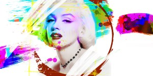 We could be heroes just for ine day (42x60cm) - Marylin