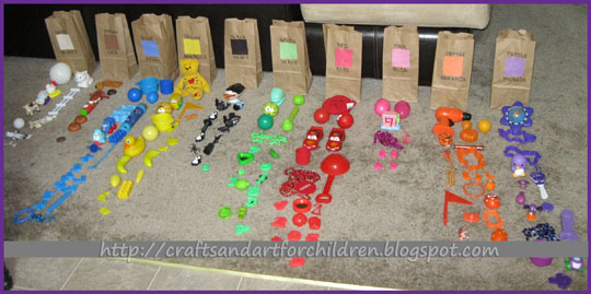 color scavenger hunt activity for kids learning spanish colors