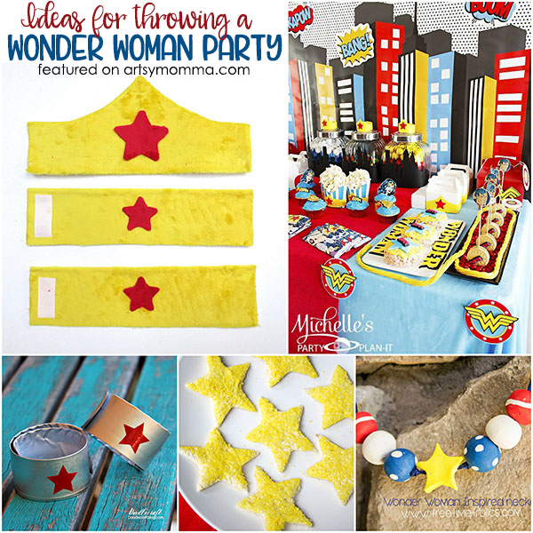 Fun Ideas For Throwing A Wonder Woman Party Artsy Momma