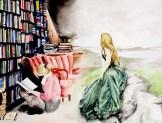 """Watercolor- """"When We Read"""""""