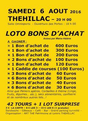 flyer loto 2016 fond jaune
