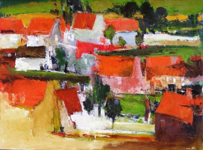 Art Thema Gallery - Jacques Daufin - La maison rose 97x130