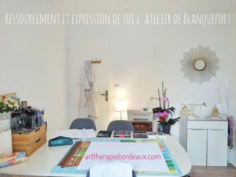 Séance d'art-thérapie evolutive@à l'atelier de Blanquefort