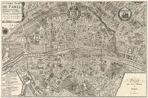 Plan de la Ville de Paris, 1715