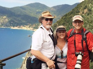Hiking the trail in Cinque Terre