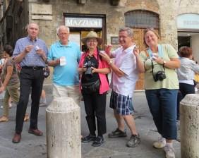 Gelato tasting in Siena