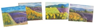Lavender field paintings from the critique