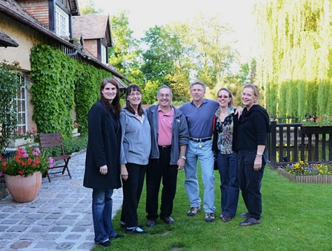 Group at the B&B in Giverny