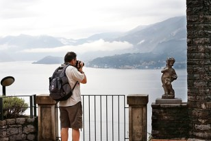 Shooting from the Lake Como hotel