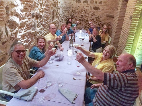 A toasting another great trip