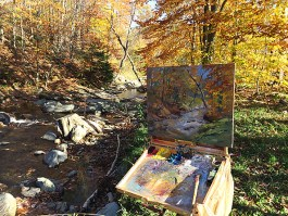 Painting along the creek
