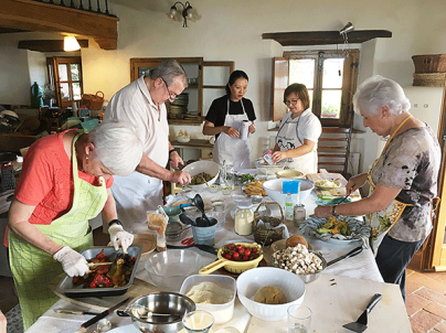 Cooking lesson from the chef at the villa