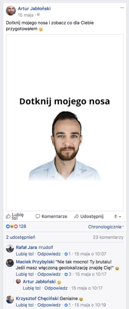 facebook artur jabłoński jak zwiększyć zasięg na facebooku? Jak zwiększyć zasięg na Facebooku? Dotknij mnie w nos     przed 429x1024