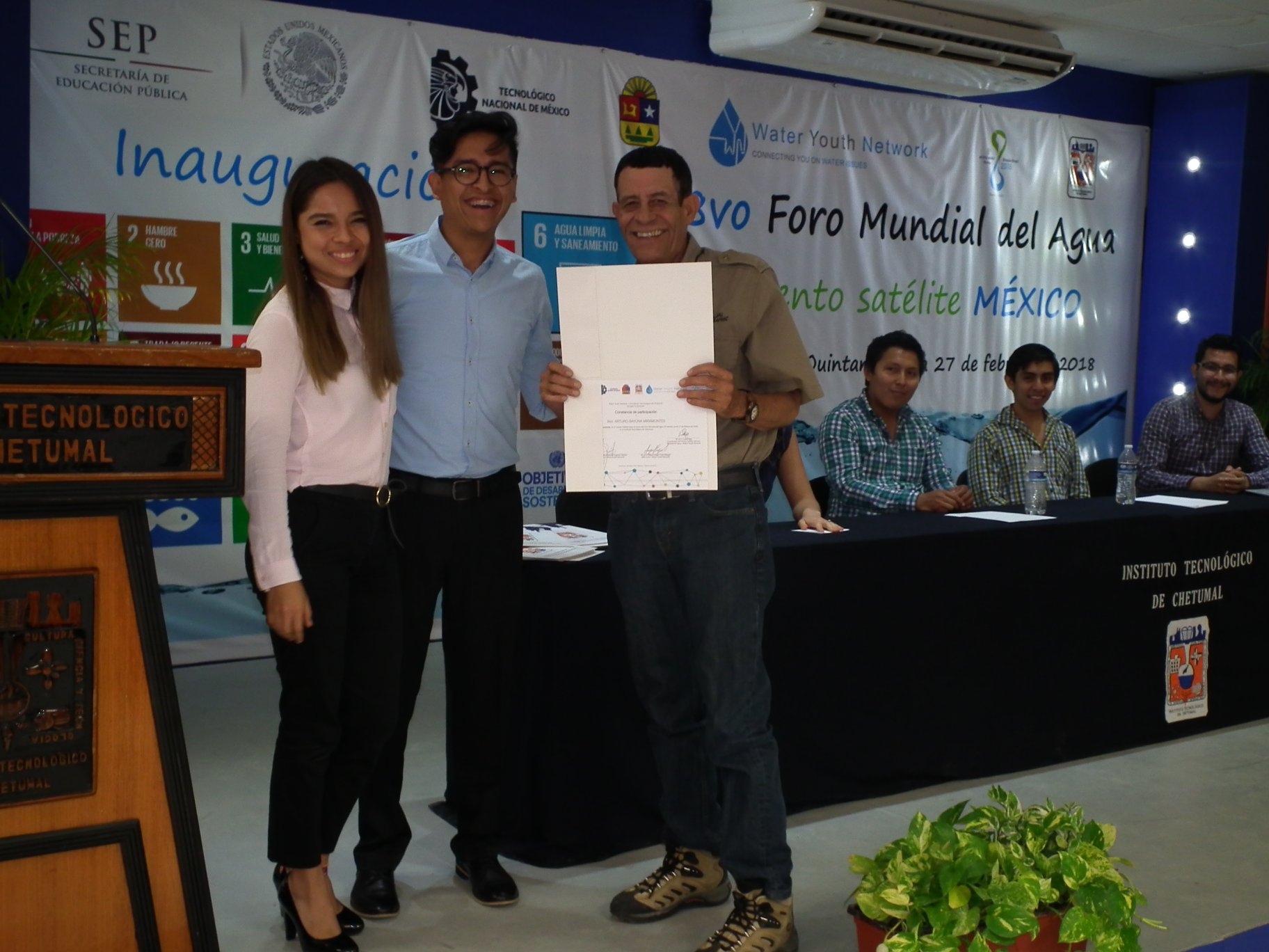 8VO FORO MUNDIAL DEL AGUA - Evento Satélito México Chetumal Q.Roo a 27 de febrero de 2018