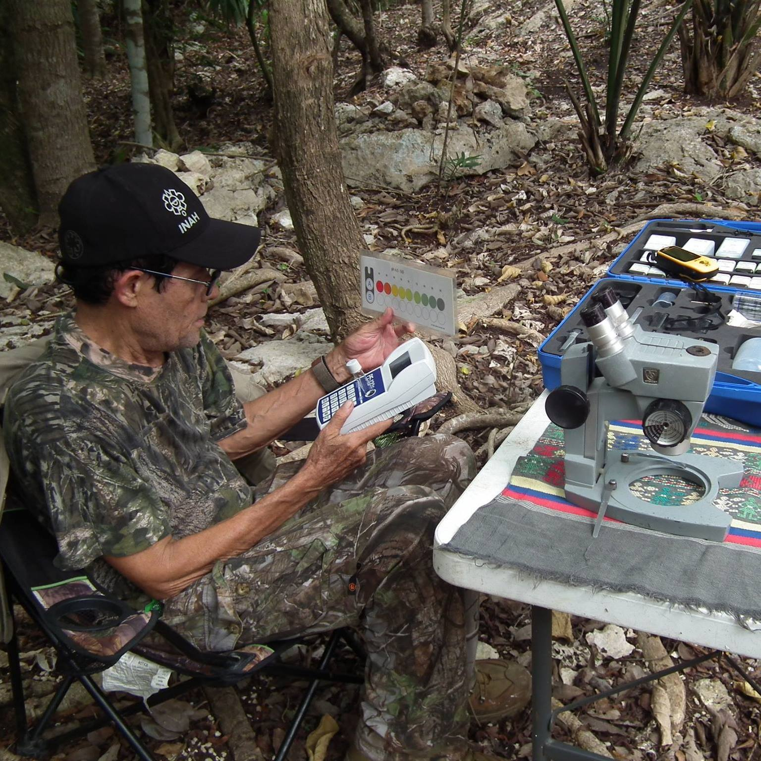 Trabajo de campo en el Gran Acuífero Maya 6 de febrero 2019