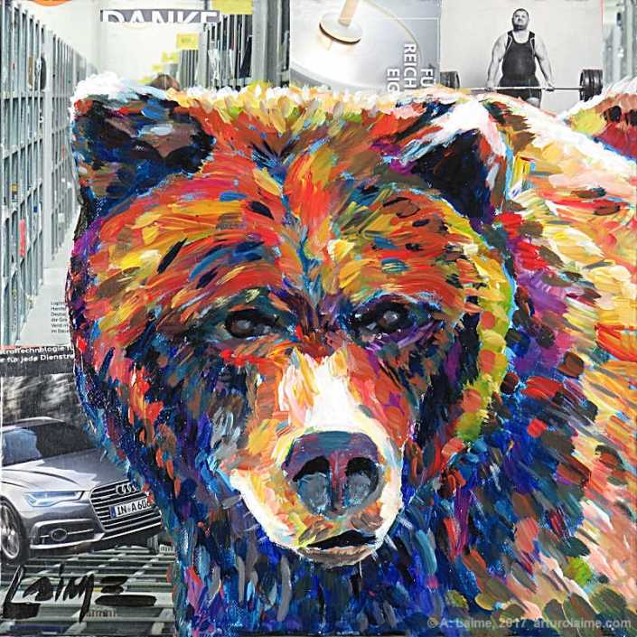 City bear painting