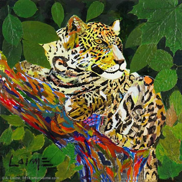 Jaguar original Mixed Media